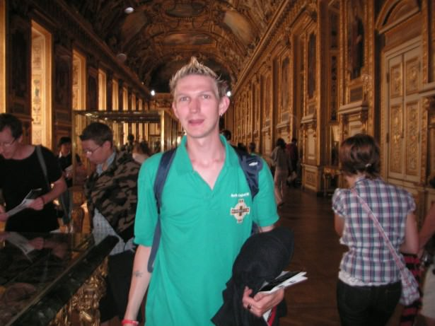 Inside the Louvre, Paris back in my earlier backpacking days.