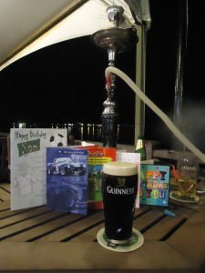 guinness and shisha in kota kinabalu