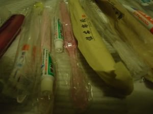 free toothbrushes and toothpaste