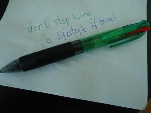 jonny blair dont stop living a pen