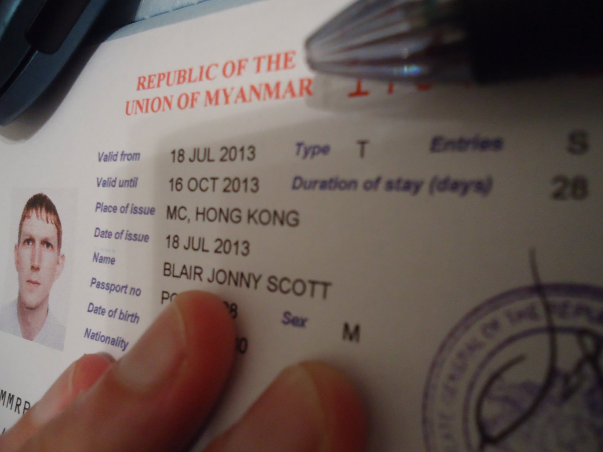 getting a Myanmar visa in Hong Kong