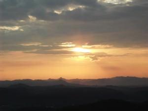 sunset in danxiashan