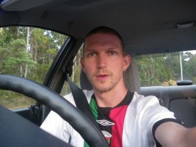 Jonny Blair driving in Australia