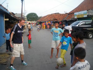 playing football in jakarta indonesia