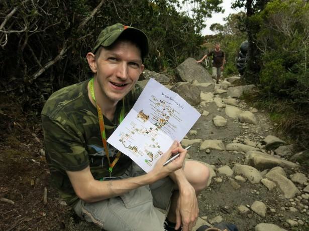 jonny blair hiking mount kinabalu