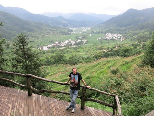 relaxing at Jiangling China