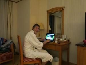jonny blair in a 5 star hotel in china