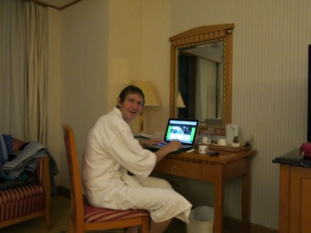 jonny blair in a 5 star hotel in china