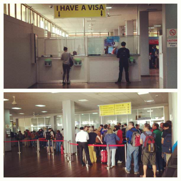 visa queues at kilimanjaro