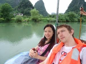 bamboo rafting in Yangshuo