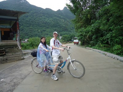 tandem cycling in China's Yangshuo