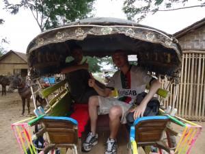 inwa horse and cart in myanmar