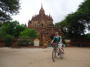 cycling in Bagan Myanmar