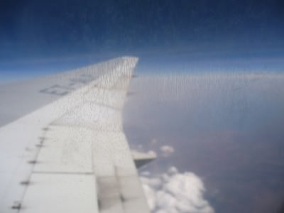 over africa flying