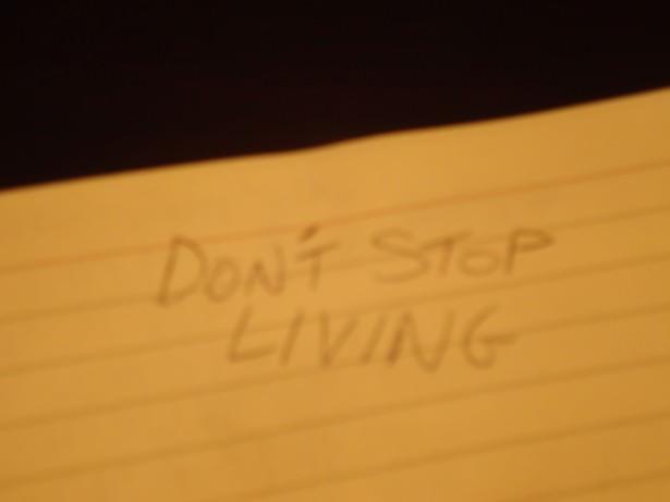 dont stop living grafiti toronto