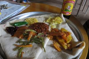 addis ababa ethiopian vegetarian combination