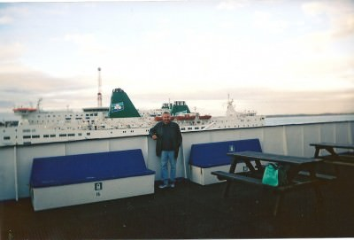 joe blair on ferry rosslare fishguard