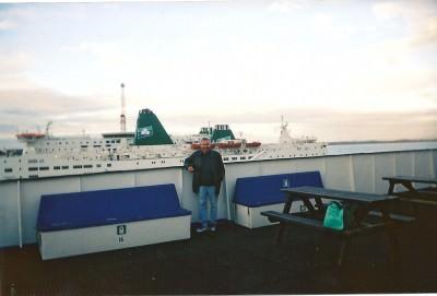 joe blair on ferry rosslare fishguard