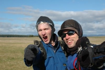 sky diving in taupo jonny blair