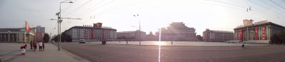 kim il song square pyongyang pre sunset