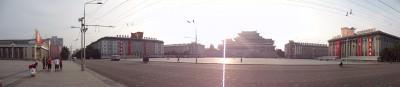 kim il song square pyongyang pre sunset