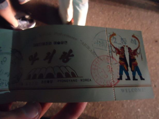 Backpacking in North Korea: Mass Games Ticket 2013