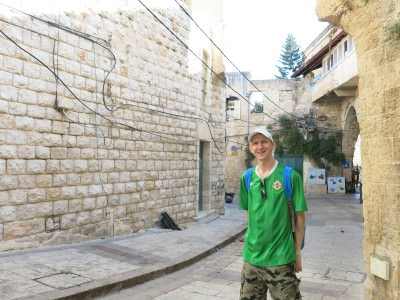 backpacking in nazareth old city