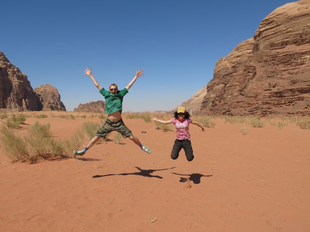 jumping in wadi rum desert rumstars
