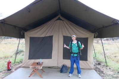 camping in the serengeti