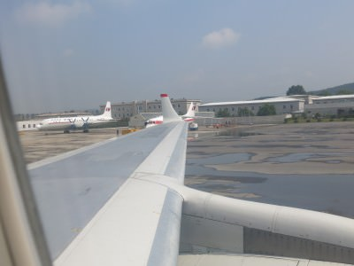 arrival ay pyongyang airport north korea