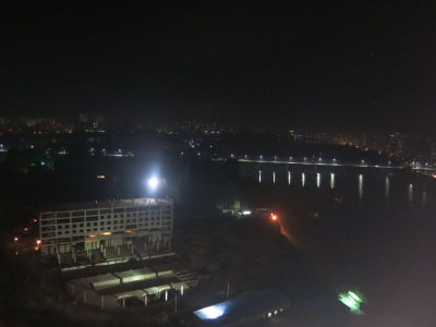 night time pyongyang view