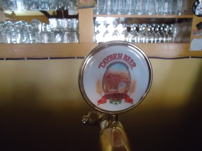 The solitary tap was Taybeh Beer - the Palestinian local brew from Ramallah.