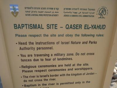 jesus baptismal site qaser el yahud