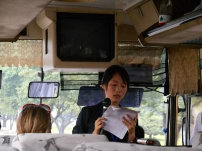 """Hostel pick up"" AKA asour guided bus tour of North Korea. Met us at the airport, but many cheap hostels do the same..."