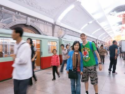 pyongyang metro station north korea