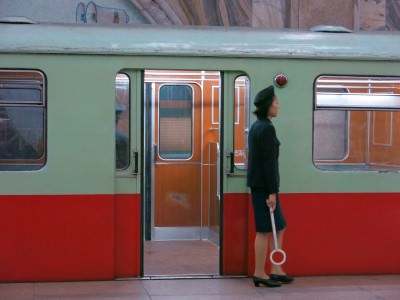 train lady in pyongyang