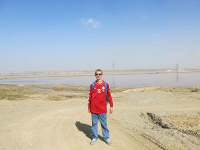 azerbaijan pink lake