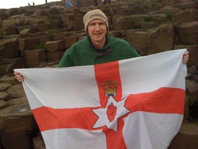 giants causeway northern ireland flag