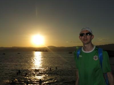 sunset aqaba red sea