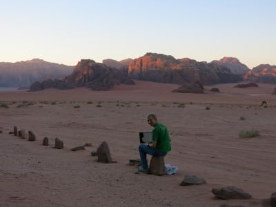In the middle of the desert how the hell can you get any work done?! (Actually I got some done...)