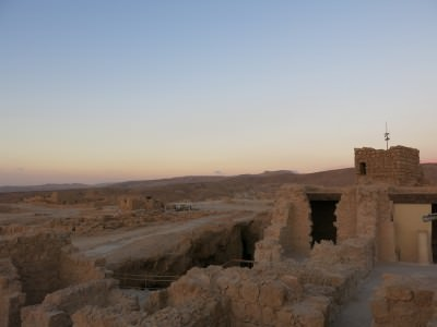 sunrise on masada mountain