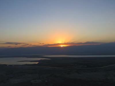 masada sunrise israel