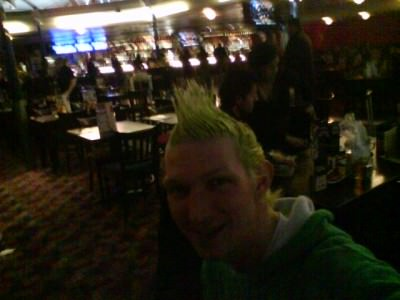 lime green spiked hair