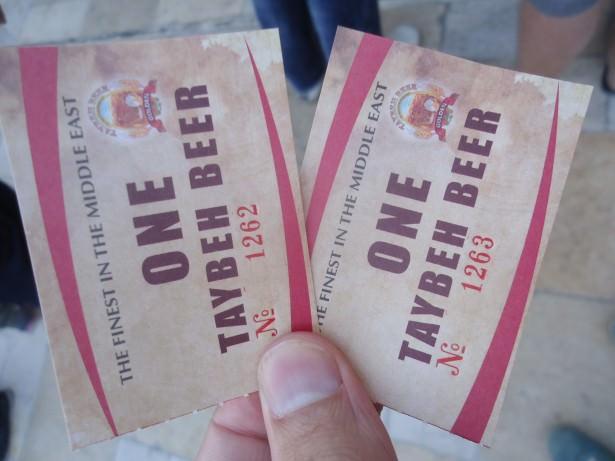 palestine beer festival tokens