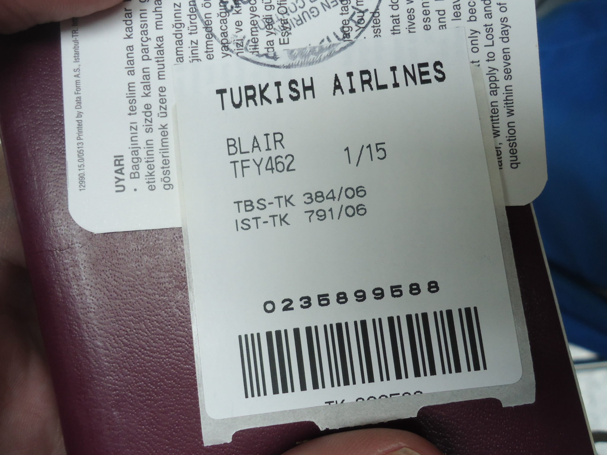 turkish airlines lost baggage