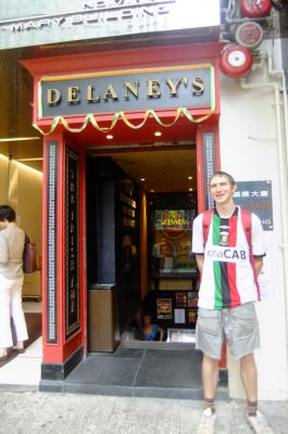 working in delaneys irish pub hong kong