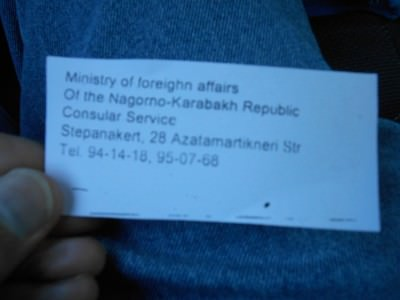 piece of paper nagorno karabakh