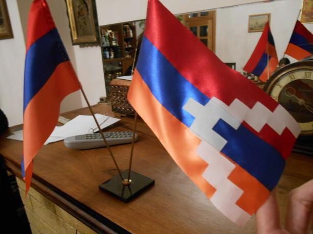 flag nagorno karabakh armenia