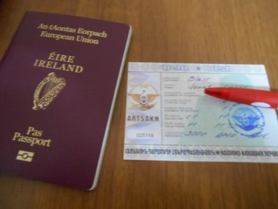 passport and visa for nagorno karabakh