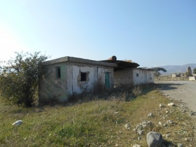 Ruined buildings in Agdam, Nagorno Karabakh